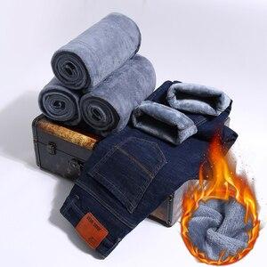 Image 2 - 2019ใหม่ผู้ชายกิจกรรมThicken Warmกางเกงยีนส์ฤดูใบไม้ร่วงกางเกงยีนส์ฤดูหนาวWarm Flocking Warm Soft Menกางเกงยีนส์Fitสำหรับ 15