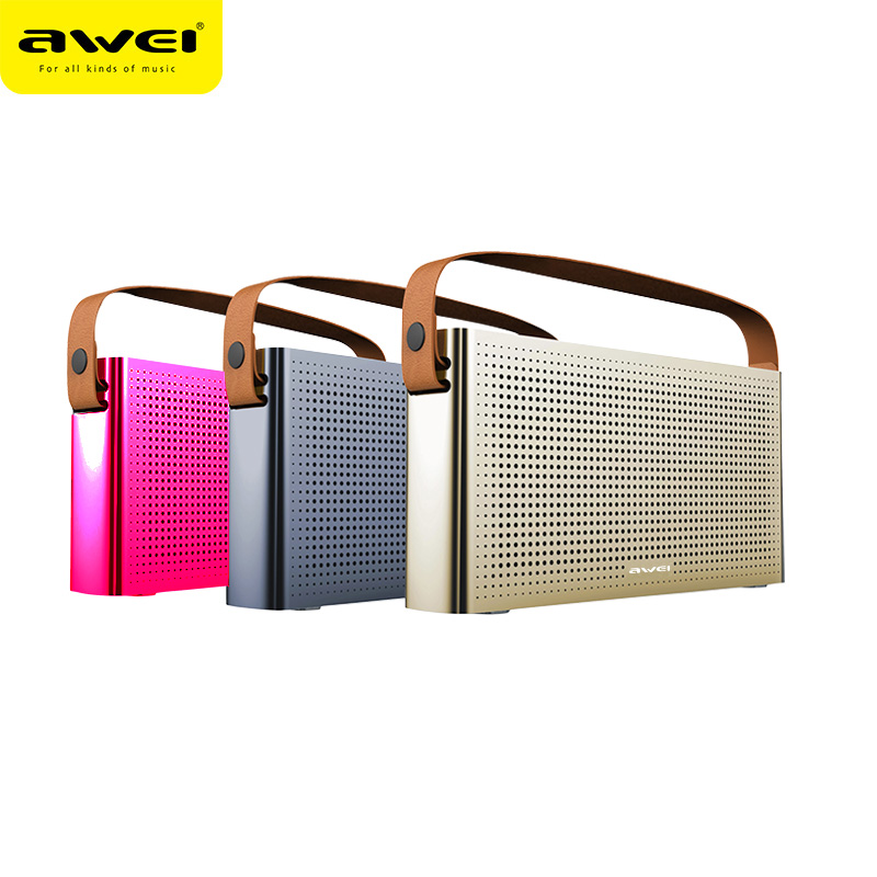 Original Awei Y300 Super Bass MIni Portable Hand Held Wireless Bluetooth Speaker HD AUX Handfree Music Metal Speaker цены