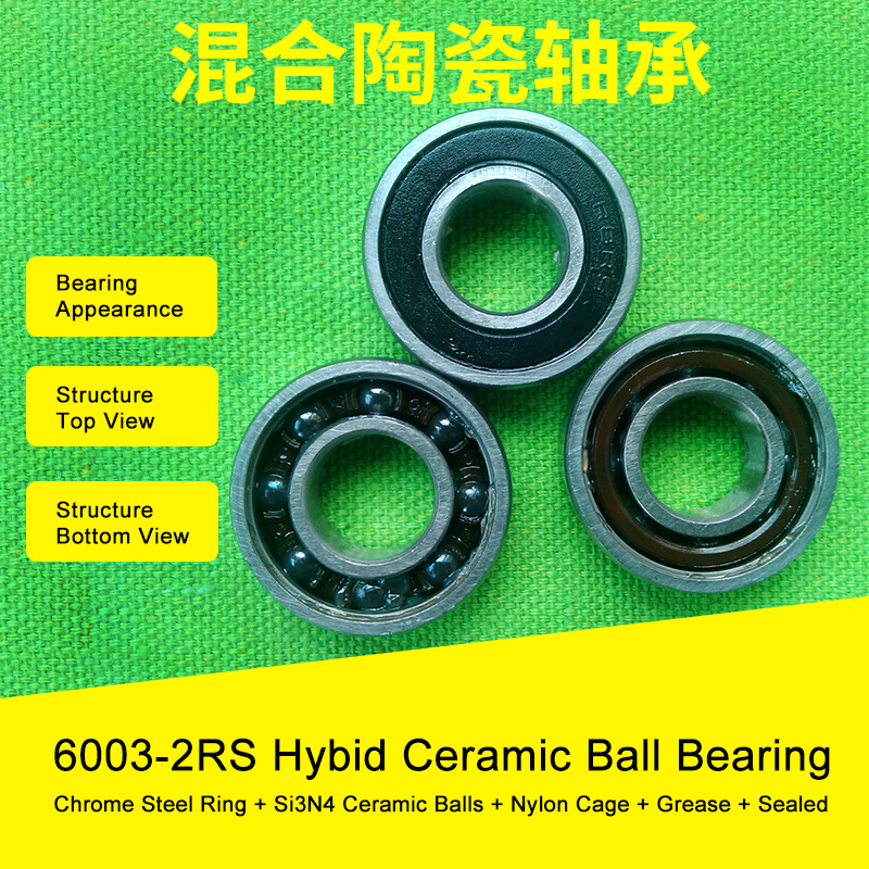 6003 Hybrid Ceramic Bearing 17x35x10 mm ABEC-1 ( 1 PC ) Bicycle Bottom Brackets & Spares 6003RS Si3N4 Ball Bearings 1 pc 6003 full ceramic si3n4 17x35x10 17mm 35mm 10mm si3n4 ceramic ball bearing