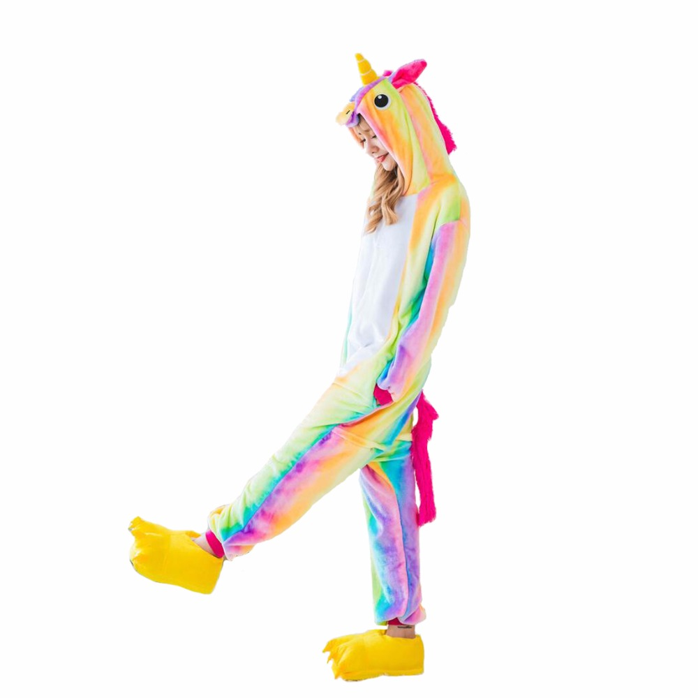 Onesie Animal Stitch Rainbow Star Unicorn Panda Bear Pikachu Onesie Adult Unisex Cosplay Costume Pajamas Sleepwear For Men Women