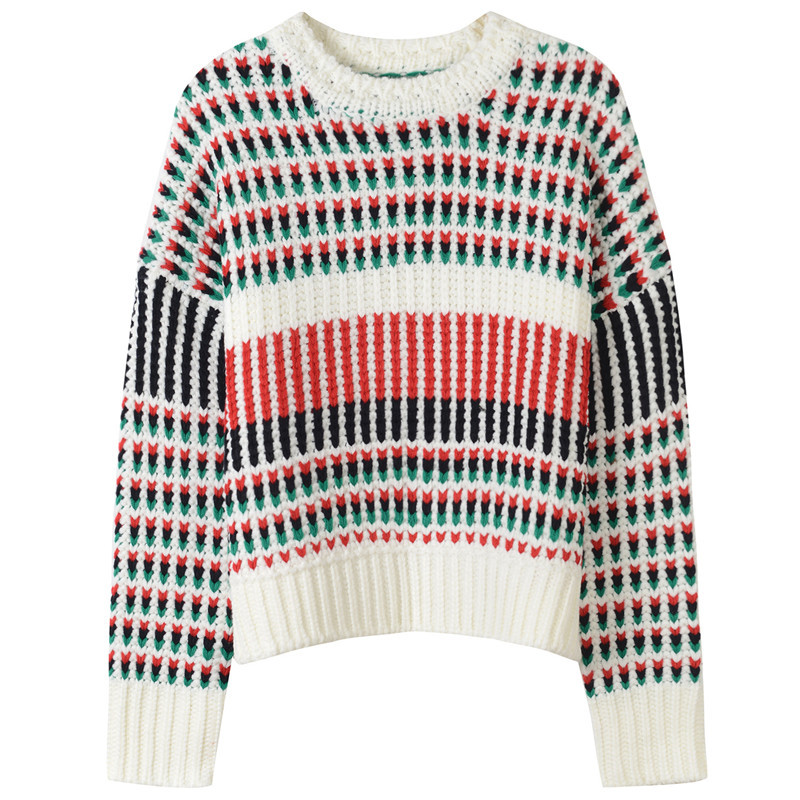 SRUILEE Brand Design Striped Vintage Jumper 2018 New Autumn Winter Women Sweater Pullovers Knit Top Female Warm Jersey Runway ...
