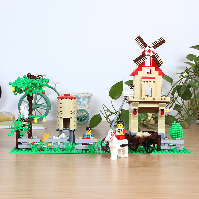 ФОТО Happy farm boy birthday gift City Building Blocks DIY Assemble Construction Enlighten Bricks Toys 8starddis 34203N