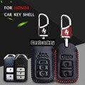 2016 Мода Автомобилей Shell Кожаный Чехол для Ключей Брелок Индуктивный датчик Для Honda City Civic Accord Fit Аксессуары Кошелек Coolcarkey