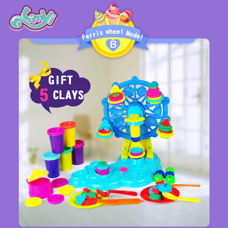 My little horses Children Plasticine Play Dough Model Tools Toys Children's Playdough Cream Sets & Mold Sets Model Clay Set