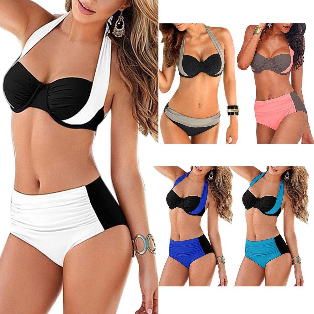 Plus Size Bikini Women Swimsuit Bikini Set Push-up Padded Bra Bathing Suit Swimwear Party Pool Beach Sunbathing Swim Set