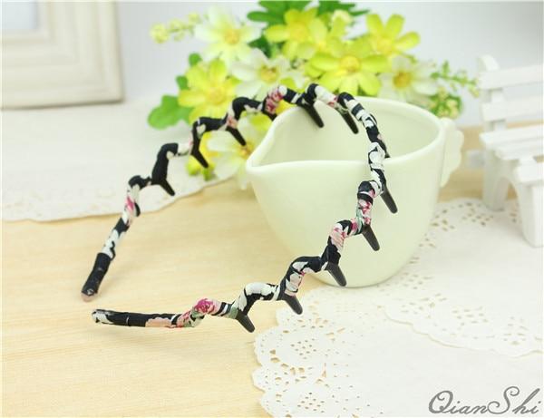 Fancyin Fashion Wavy Handmade chiffon leopard print Hairbands High Quality Headbands for Women and Girls Hair Accessories