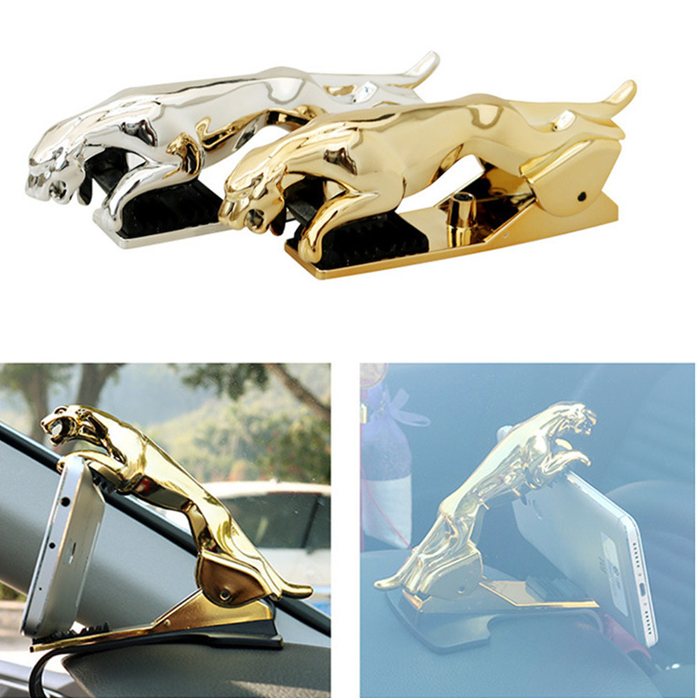 Leopard Universal Car Phone Holder Adjustable Dashboard Mount Clip Mobile Smart Phone GPS Stand Bracket For All Phone