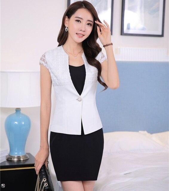 810ea25245 Plus Rozmiar 4XL Wiosna Lato Professional Business Kobiety Pracuj Suits  Kurtki I Sukienka Panie OL Style