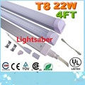 T8 Integrated Led Tubes Lights 1.2m 4ft Ultra Bright 22W 2400 lumens Warm/Natrual/Cool White Replace Fluorescent tubes 110-240V