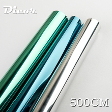 New 500cm 6Kinds Brand Window Film Mirror Easy Install UV-Block Glare Protect Eyes Skin Static Cling Removable Smart Glass