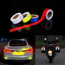 5cmx10m Reflective Bicycle Stickers Adhesive Tape for Bike Safety White Red Yellow Blue Bike Stickers Bicycle Accessories