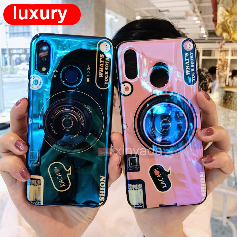Camera Case For Xiaomi Redmi 7 Redmi Note 7 Pro Note 7S 6 5 Case Back Cover luxury soft Bumper Silicone TPU Armor Shell coque in Fitted Cases from Cellphones Telecommunications