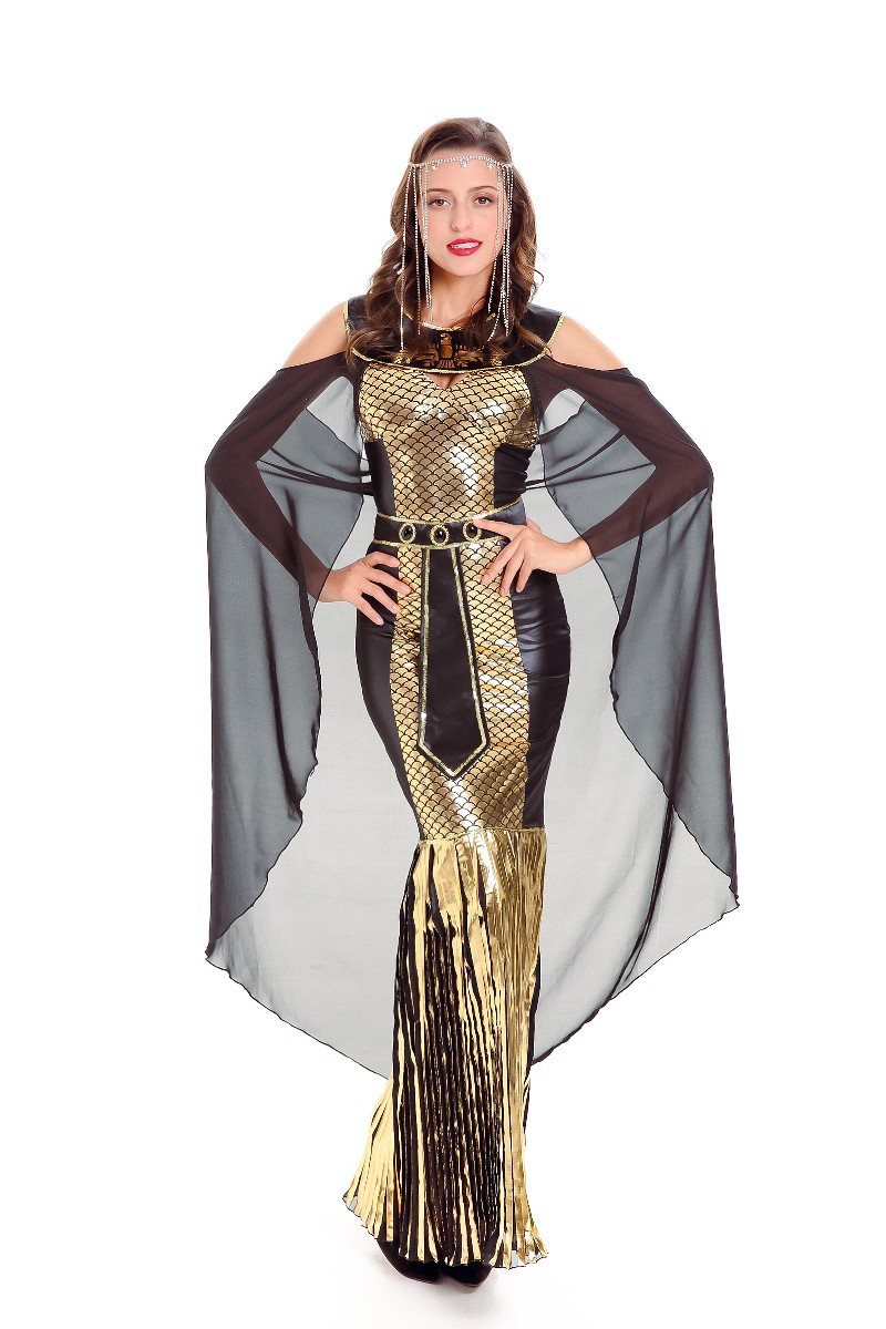 halloween egyptian queen cosplay costume ladies womens greek roman goddess ancient toga fancy dress party costume outfit in holidays costumes from novelty