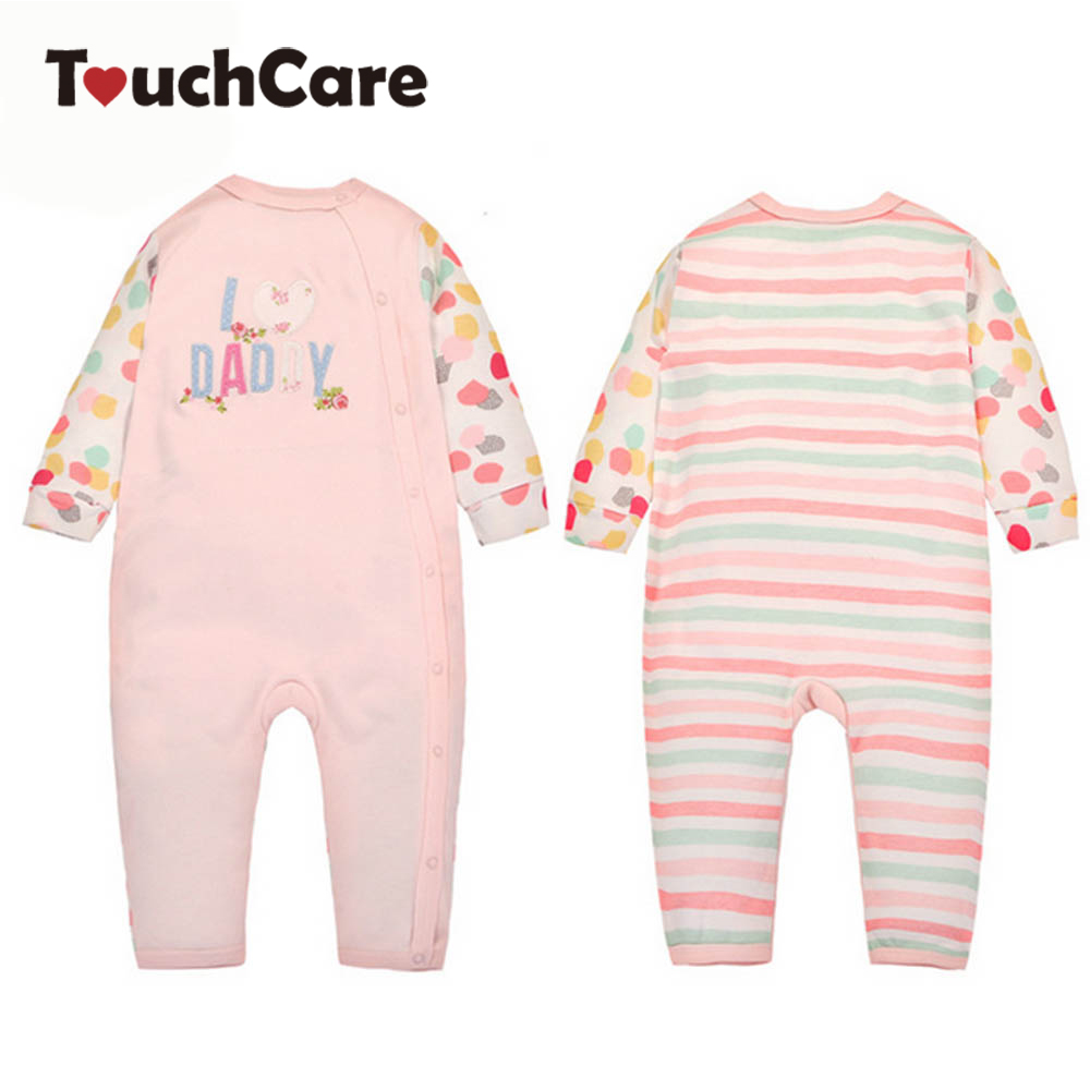Long Sleeve Soft Cotton Baby Boys Girls Rompers Infant Cute Pink Daddy Letter Kids Jumpsuit  Newborn Ropa Bebes Costume Clothes 2016 new newborn baby boys girls clothes rompers cotton tracksuit boys girls jumpsuit bebes infant long sleeve clothing overalls