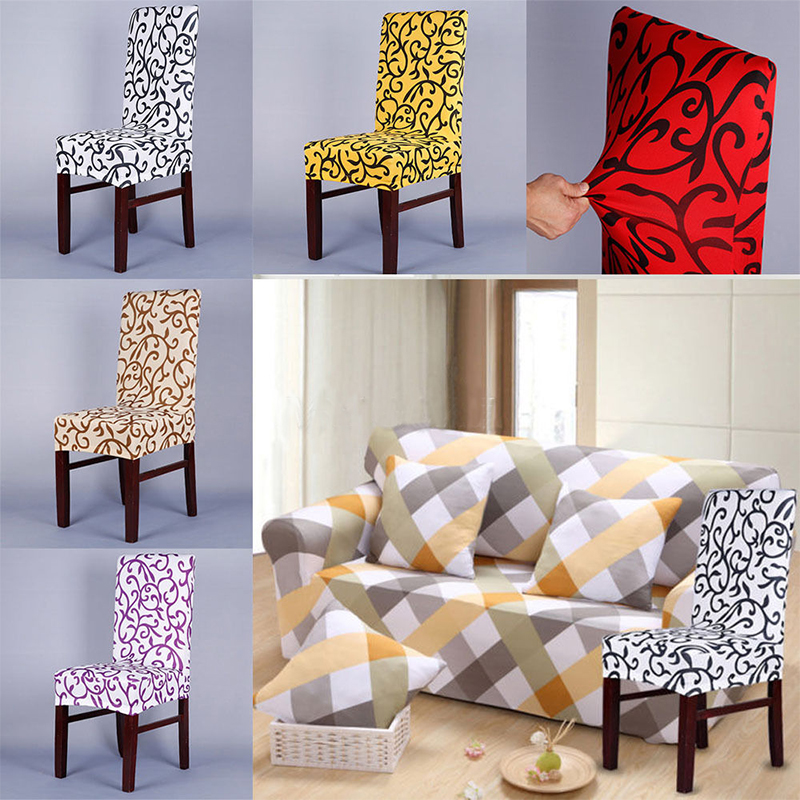 New Arrival Floral Stretch Spandex Lycra Chair Covers For Wedding Supply Party Banquet DecorationChina
