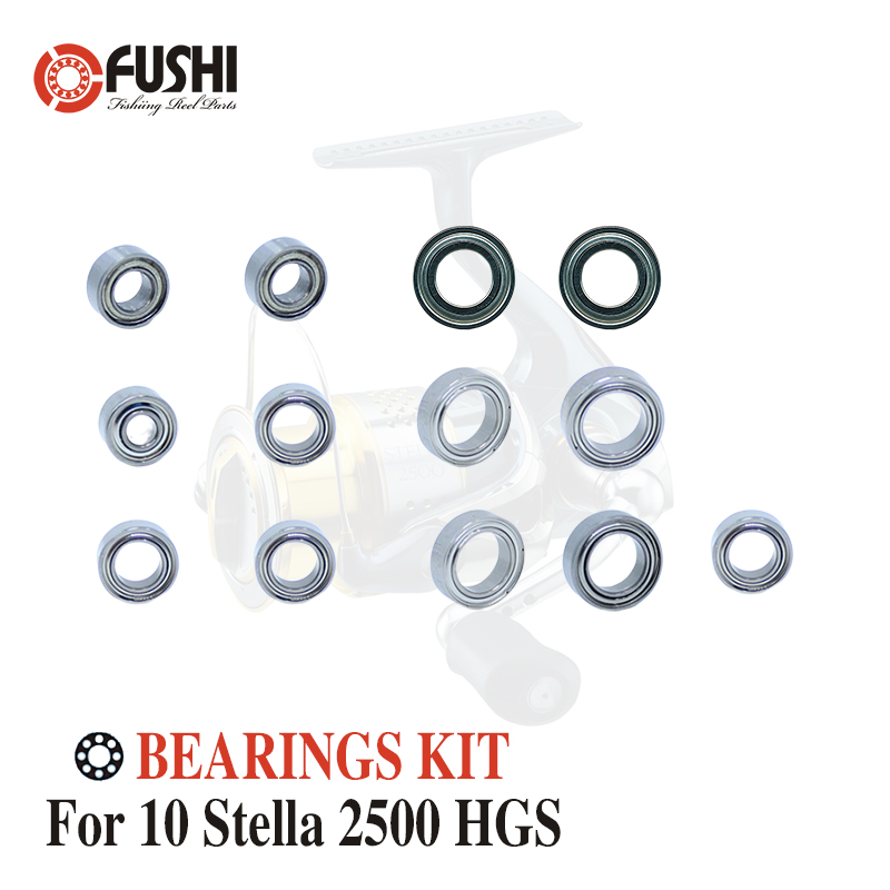 Fishing Reel Stainless Steel Ball Bearings Kit For Shimano 10 Stella 2500 HGS / 02789 Spinning reels Bearing Kits