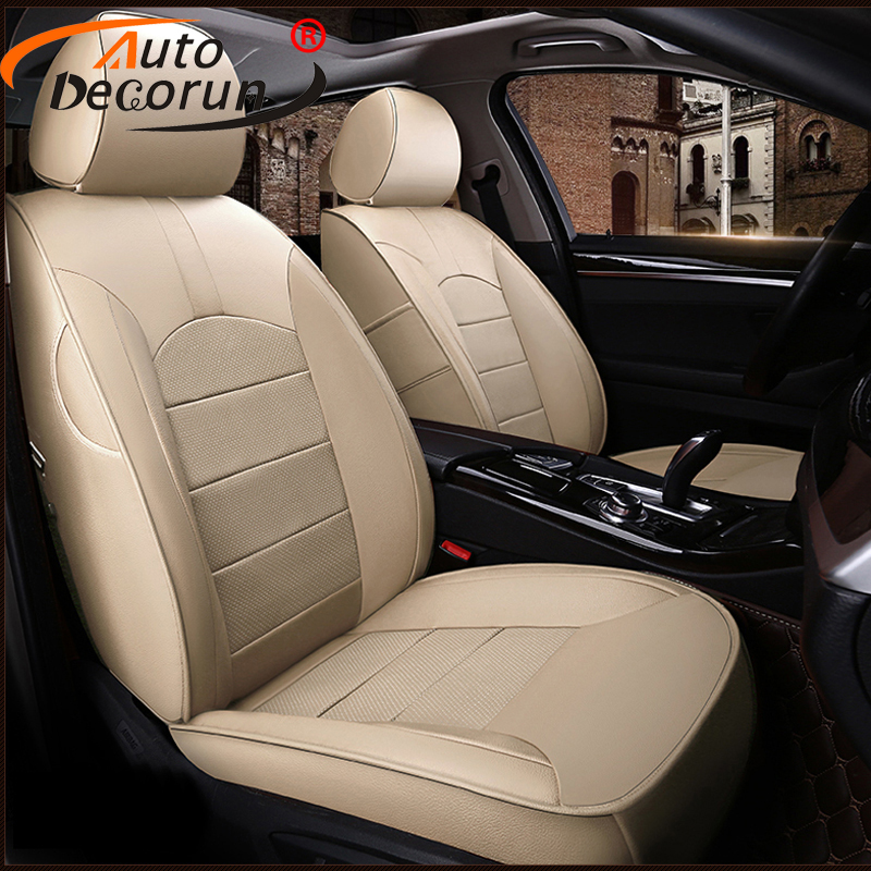 Autodecorun Genuine Leather Automobiles Seat Covers For