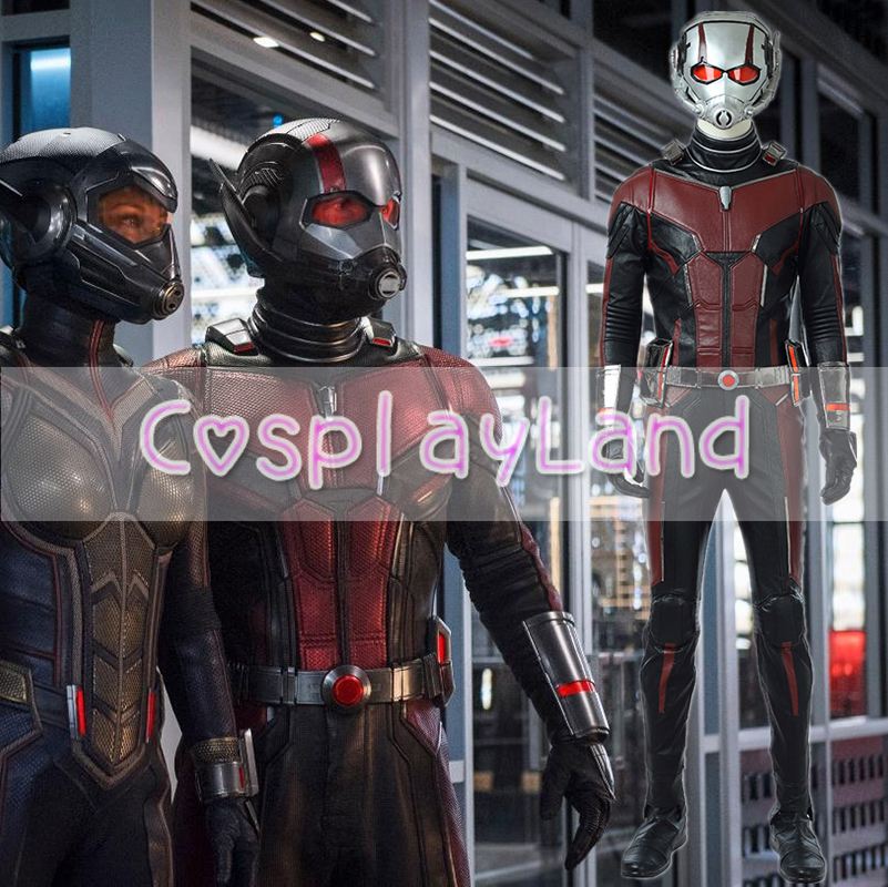 2018 New Movie Ant-Man and the Wasp Cosplay Costume Ant Man Costume Halloween Costumes For Adult Men Cosplay Costume Custom Made