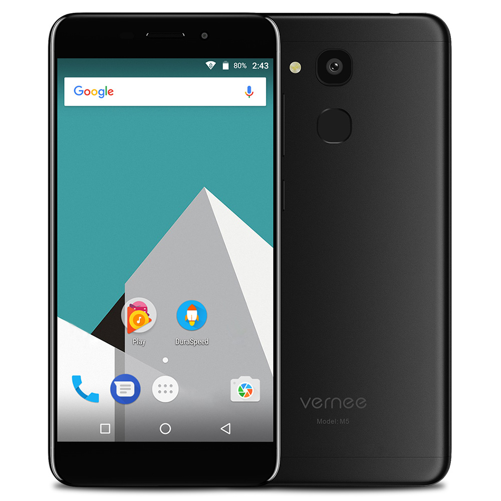 Vernee M5 4G Smartphone 5.2 inch Android 7.0 Octa Core 4GB RAM 32GB ROM Fingerprint Sensor 13.0MP Camera Mobile Phone