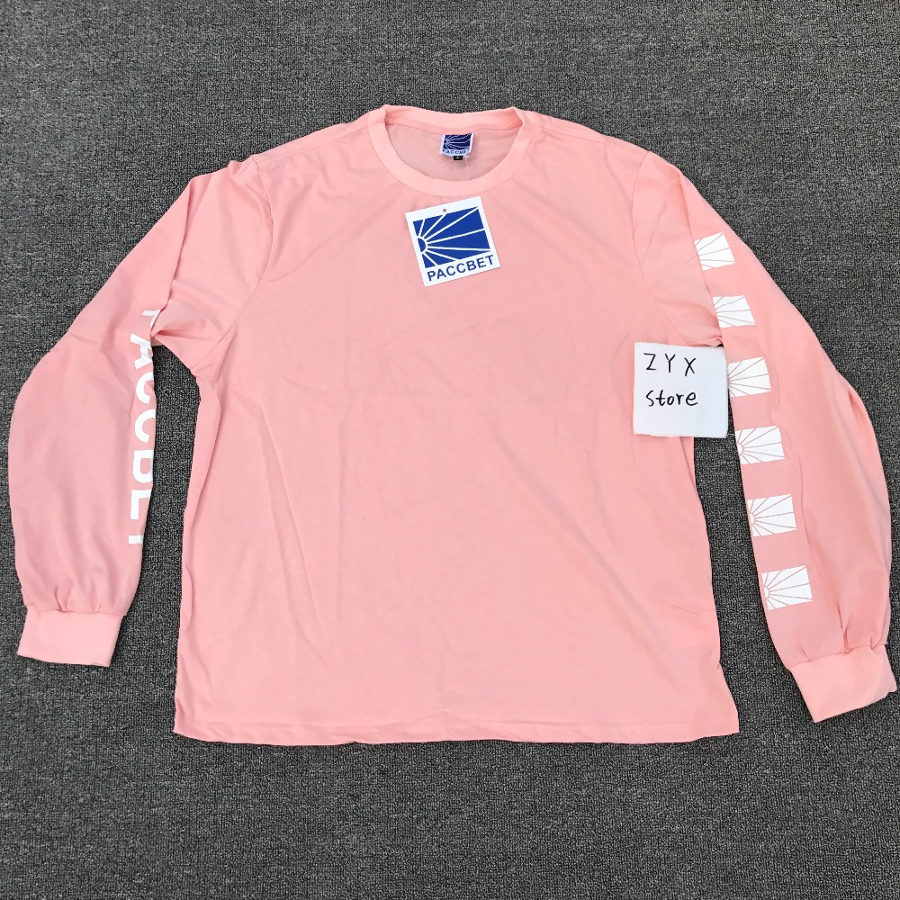 2017 Gosha Rubchinskiy PACCBET Sunrise Long Sleeve T shirt Hiphop Skateboard Cotton Women Men T shirts