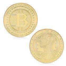 2017 Bitcoin Münzen Sammeln BTC Kunstsammlung Souvenir Physikalische Geschenk Gold Silber Überzogene