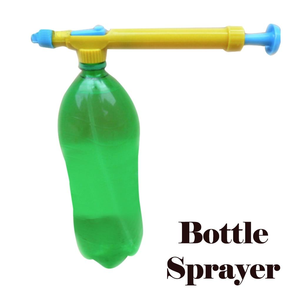Funny Space Water Gun Pull Type Swim Sprayer Beverage Bottle Interface Plastic Trolley Gun Sprayer Outdoor Funny Beach Toys