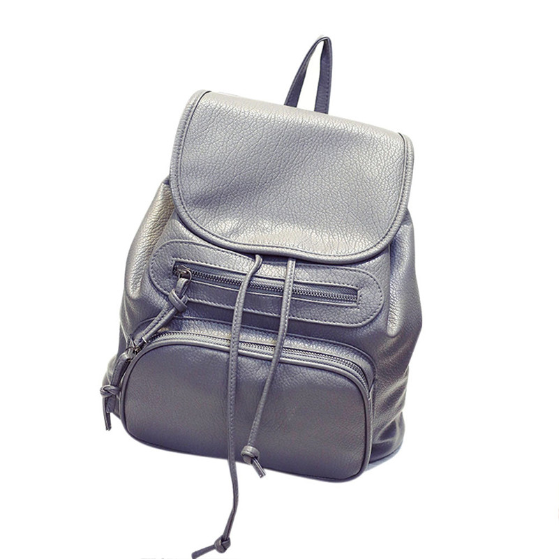 Backpack Bags For Women Daily New Solid Soft Leather Backpacks Schoolbag Casual Boys Girls Shoulder Bag