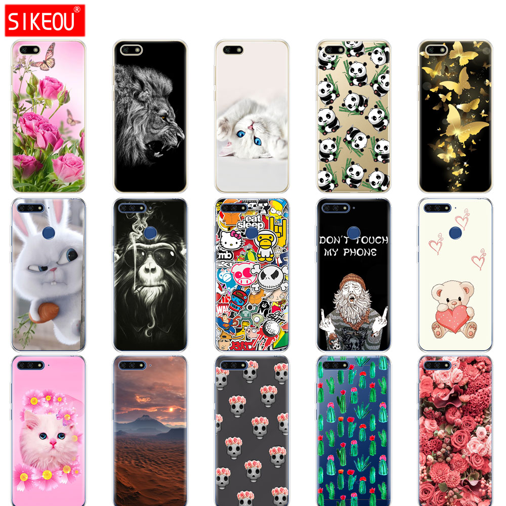 purchase cheap 24483 493e0 Silicone Huawei Honor 7A PRO Case Huawei Y6 Prime Cover Huawei Y5 Prime Y9  Phone Back Cover Soft Tpu Bumper