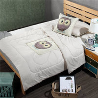 Fashion Cartoon Cushion Blanket Owl Whale Combed Cotton Coussin Decoration Pillows Lumbar Supports Throw Cushion Multi Function