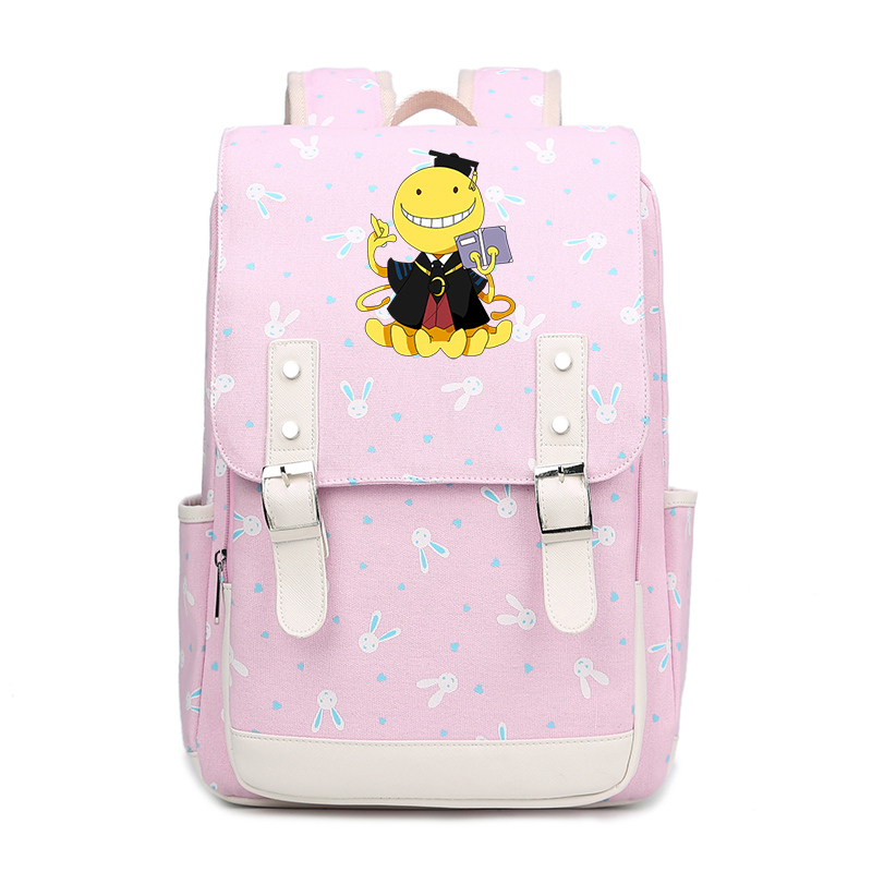 все цены на Japanese Anime Assassination Classroom Printing Backpack Kawaii Women Backpack Canvas School Bags for Teenage Girls Travel Bags