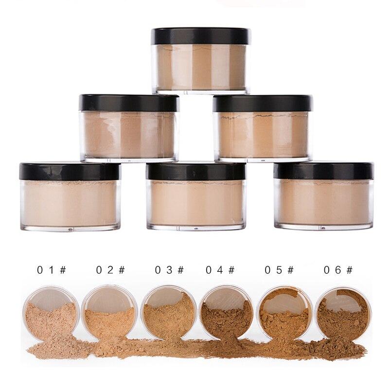 6 Color Professional Makeup Loose Foundation Matte Bare Face Long Lasting Whitening Skin Finish Transparent