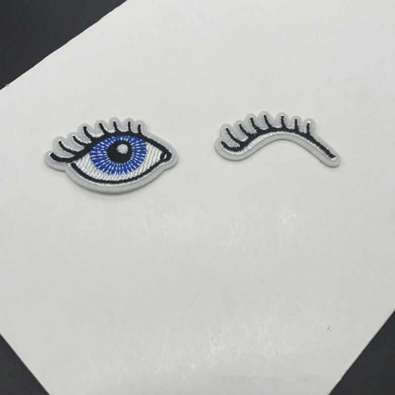 Eyes Patches Iron On Or Sew Fabric Sticker For Clothes Badge Embroidered Appliques DIY
