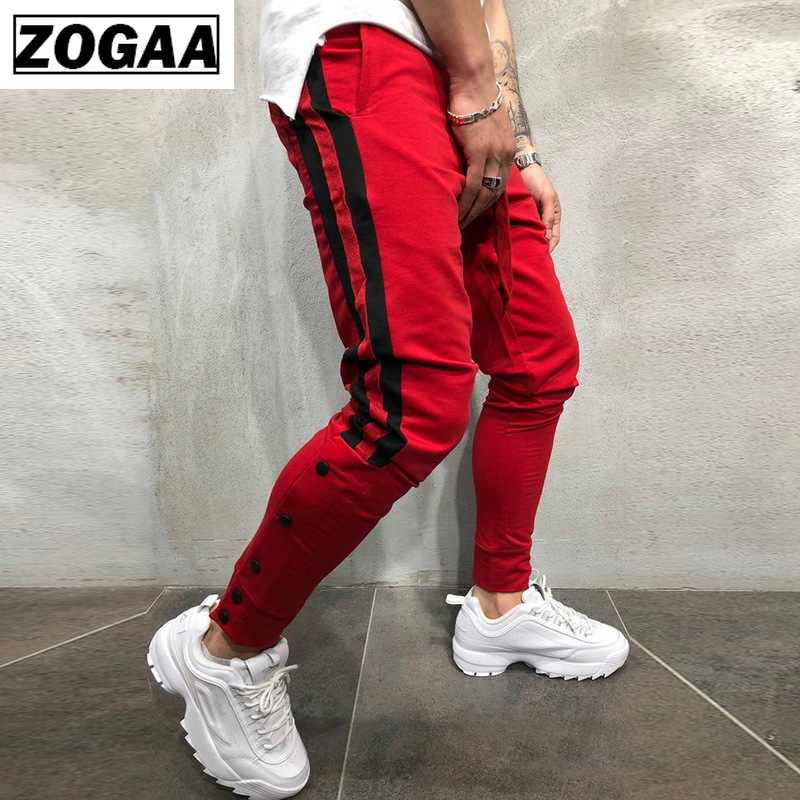 Pria (Celana Olahraga Sisi Garis Hip Hop Celana Pendek Street Memakai Skinny Jogger Celana Olahraga Elastis Pinggang Pria Kasual Celana 3XL