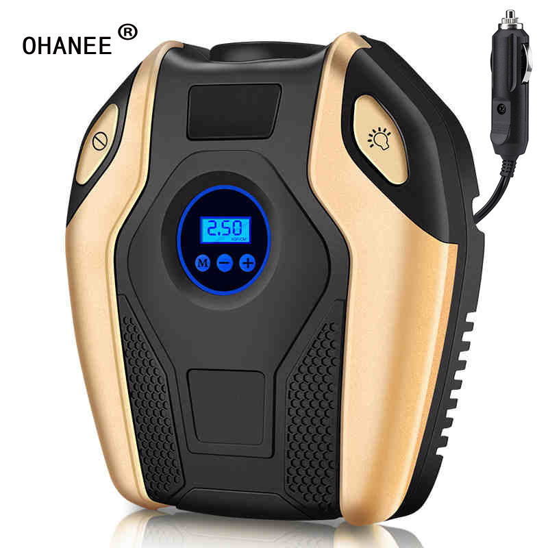 OHANEE Digital Tire Inflator DC 12V Car Portable Air Compressor Pump 150 PSI Car Air Compressor For Car Bicycles Motorcycles