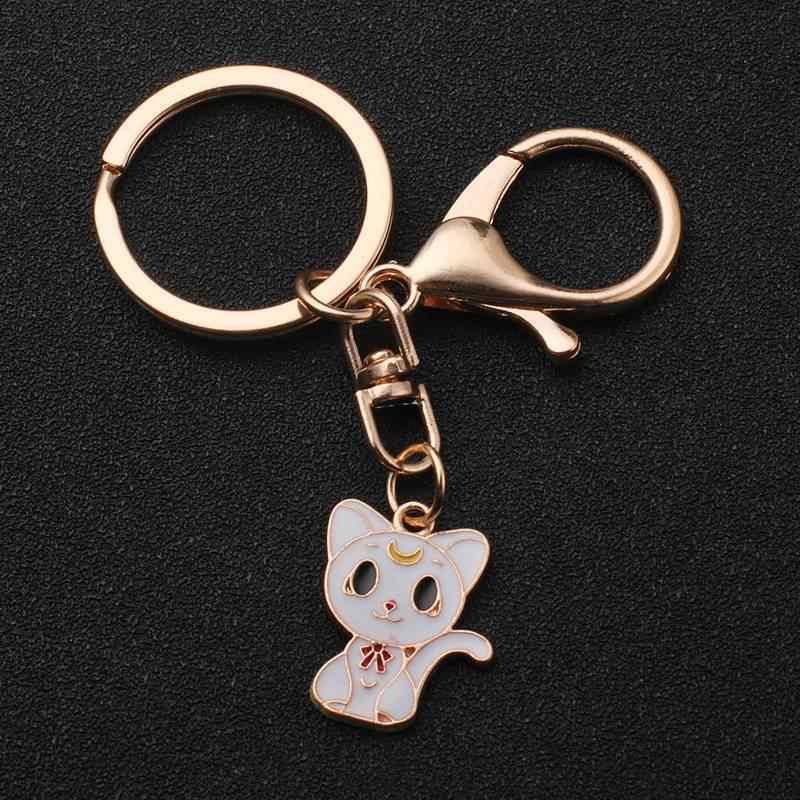 Chaveiro bonito do gato branco pompom vingadores chaveiro jóias bola de pele chaveiro fofo pom pom chaveiro para as mulheres saco de carro chaveiro