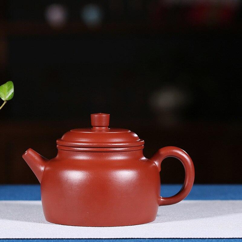 Yixing famous pure manual recommended home run of mine ore dahongpao DE clock tea pot set customYixing famous pure manual recommended home run of mine ore dahongpao DE clock tea pot set custom