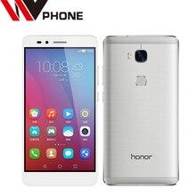 "Wv msm8939 original huawei honor 5x4g fdd lte teléfono móvil android 5.1 5.5 ""FHD 1080 P 3 GB RAM 13.0MP Smartphone de Huellas Digitales"