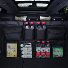 Auto Car Rear Seat Back Storage Bag Multi Hanging Nets Trunk Organizer Stowing Tidying Interior Accessories Supplies