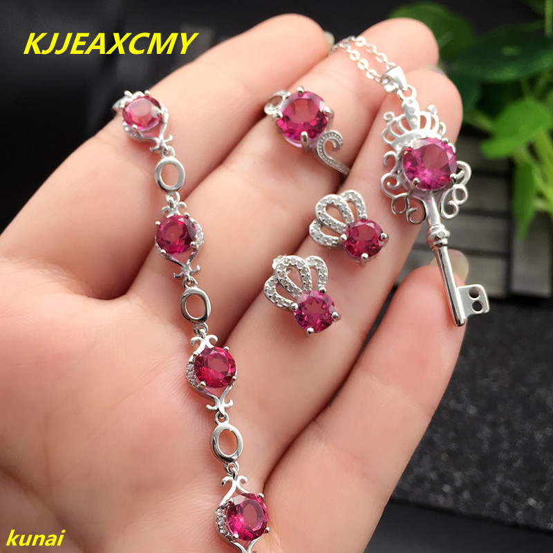 KJJEAXCMY boutique jewels 925 silver inlay natural pink topaz ring pendant earrings bracelet 4 suit jewelry necklace sent kjjeaxcmy boutique jewels 925 silver inlay natural pink topaz ring pendant earrings bracelet 4 suit jewelry necklace sen
