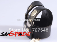 Real Leather Ball Splitter Master Cock Rings 5 Pieces Lot Different Adjustable Leather Ring For Men