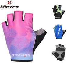 цена на Bicycle Gloves Anti-slip Men Women Cycling Gloves Summer Bicycle Anti-shock Sports Glove Gel Pad Half Finger MTB Bike Fitness