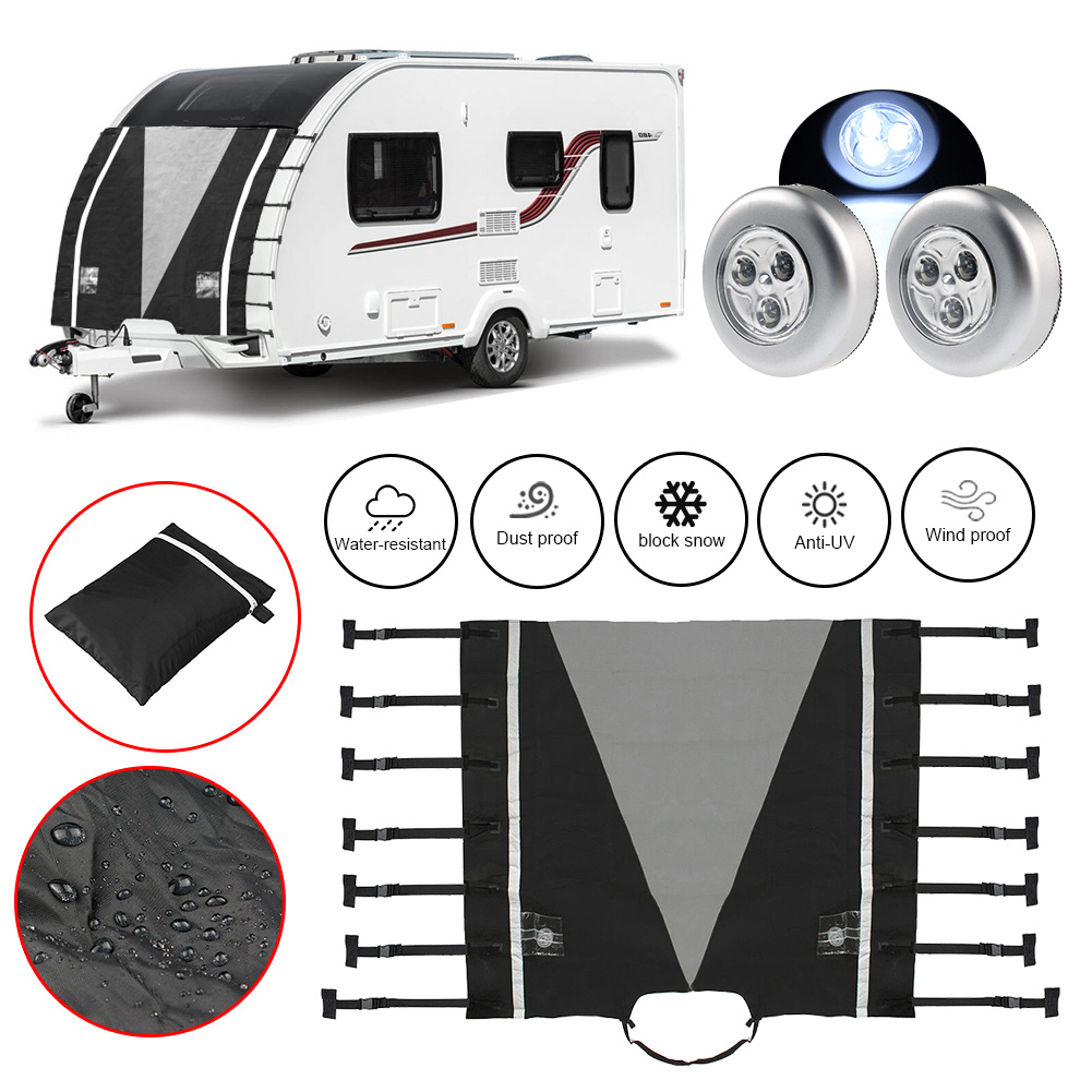 Front-Towing-Cover Caravan Led-Light Practical Dustproof With Guards Reflective-Strip-Replacement
