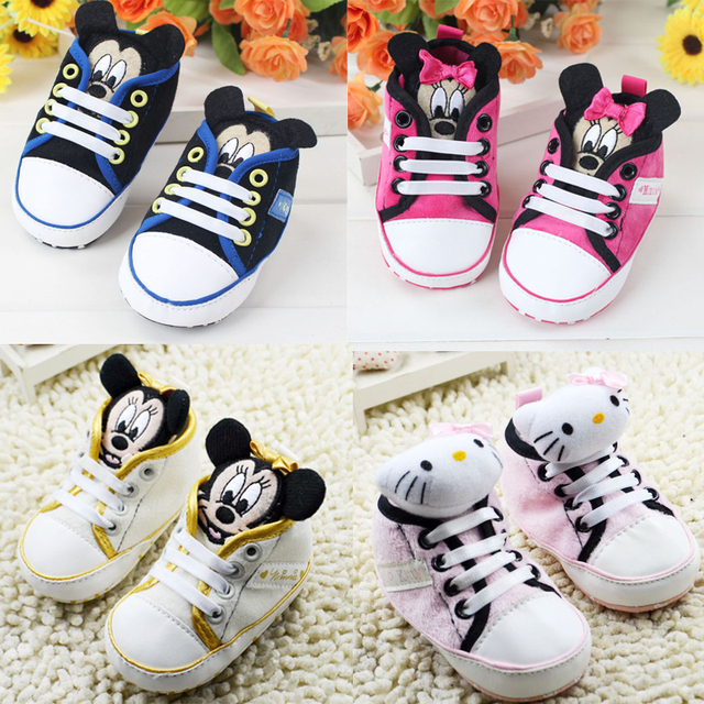 11 13cm 0 1 Year Old Baby Girls Boy Shoes High Cute Cartoon Kitty
