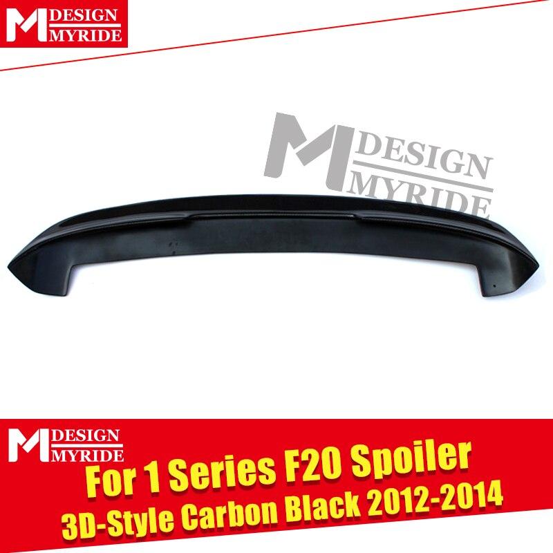 Для BMW F20 задний спойлер багажника крыло настоящий углерод волокно 3d стиль утка крыло 1 серия 118i 120i 128i крылья спойлера на заднюю крышу 2012 14 - 5