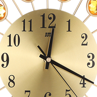 3D Wall Clock Non Ticking Silent Dazzling Wall Clock For Home Kitchen Office Diameter 37cm