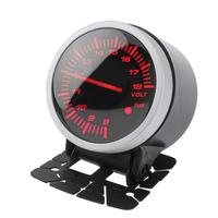 VODOOL Universal 60mm 2 5inch Racing Car Voltmeter Voltage Gauge W White Red Light Car Styling