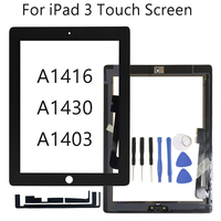 "9 7 ""Für Apple iPad 3 A1416 A1430 A1403 Touch screen LCD Outer Touch Screen Digitizer Front Glas Panel Mit home Button-in Tablett-LCDs und -Paneele aus Computer und Büro bei"