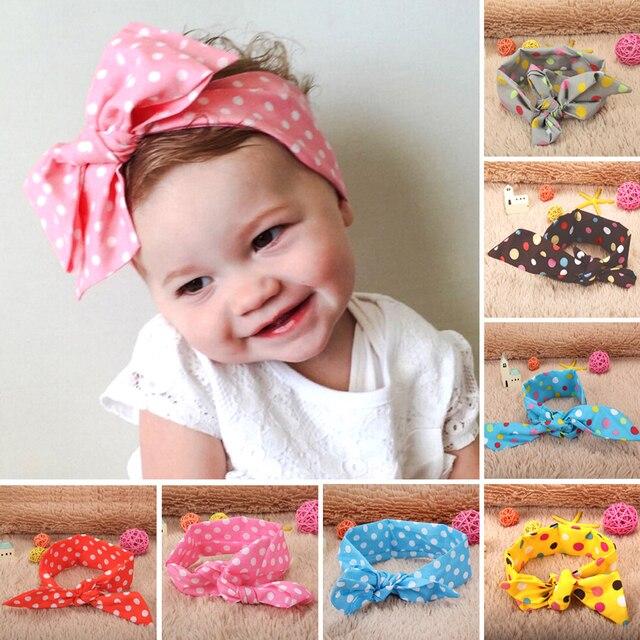 100cm Baby Headband Multi Colors DIY Baby Girls Turban Knot Big Butterfly  Bow Adjustable Rabbit Headband Hair Band Accessories c1594eac199