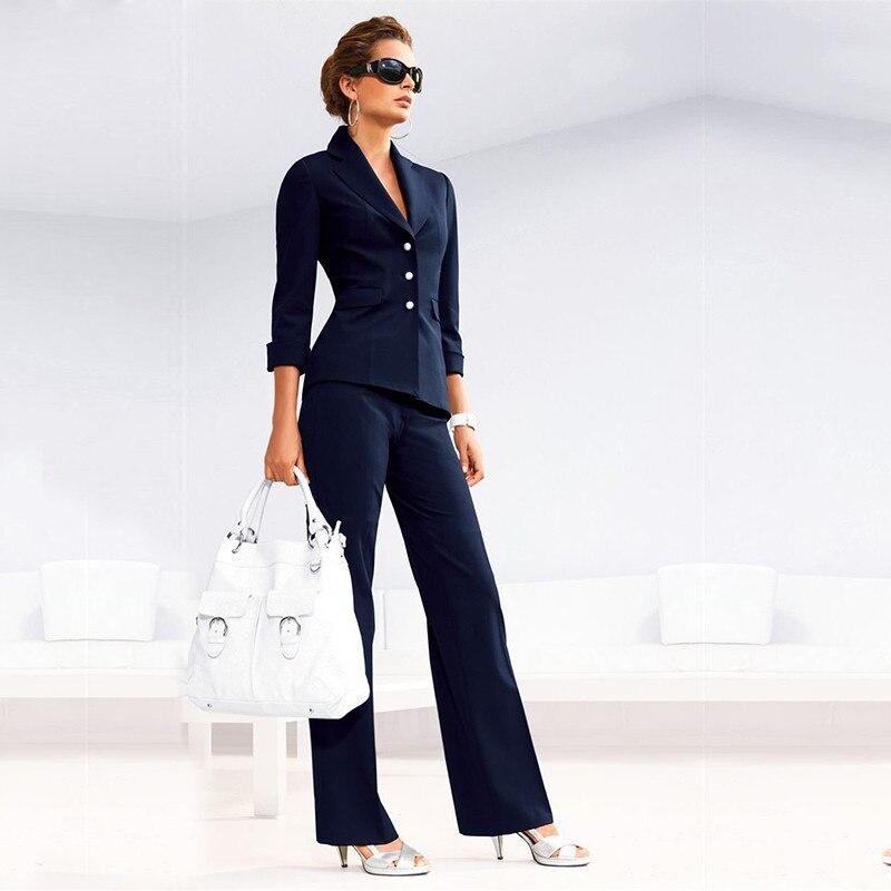 Women Pant Suits Female Suit Dress Notch Lapel Women's Business Office Tuxedos Jacket+Pants Ladies Suit Custom Made