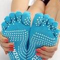 5 par/lote Mensaje de Silicona Nueva 5 Calcetines Del Dedo Del Pie de Las Mujeres de La Manera de Señora Women Girls Five Fingers Trainer Toe Calcetines de Algodón
